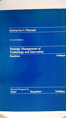 9780256054491: Instructor's Manual to accompany Strategic Management of Technology and Innovation
