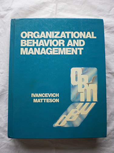 9780256056082: Organizational Behavior and Management