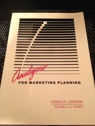 9780256057836: Analysis for Marketing Planning