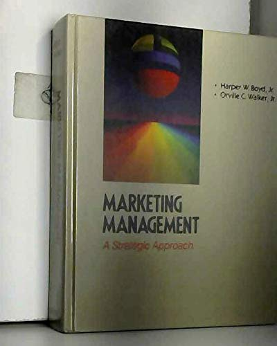 9780256058277: Marketing Management: A Strategic Approach (The Irwin series in marketing)