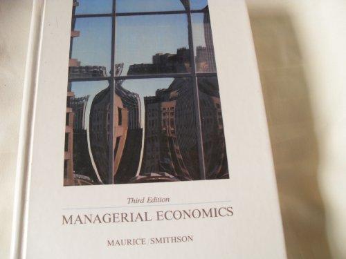 9780256059144: Managerial economics: Applied microeconomics for decision making (Irwin publications in economics)