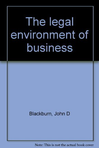 9780256060324: The legal environment of business