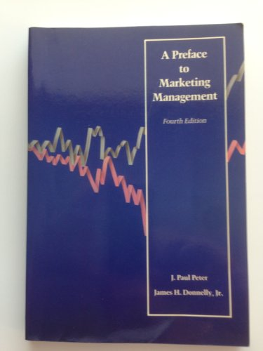 9780256060782: Preface to Marketing Management