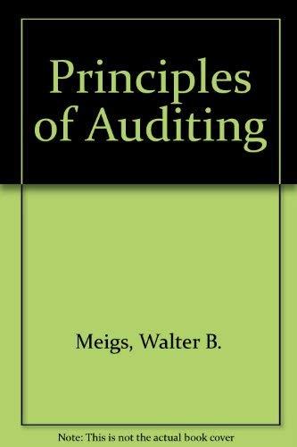 Principles of Auditing: Whittington; Kurt J.