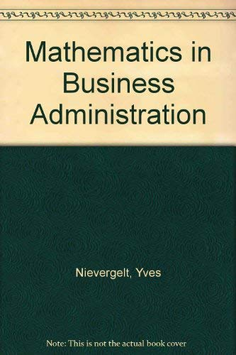9780256069143: Mathematics in Business Administration