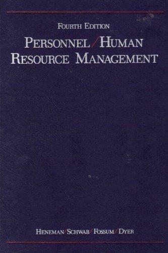 Personnel / Human Resource Management: Herbert G. Heneman,