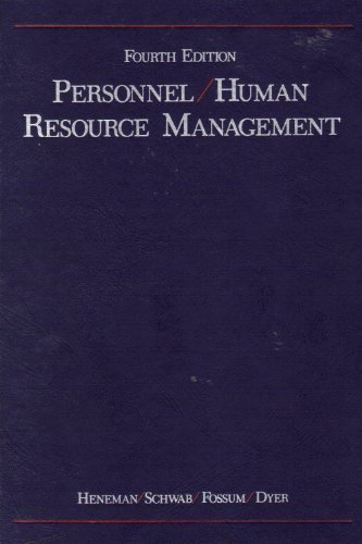 9780256069297: Personnel / Human Resource Management