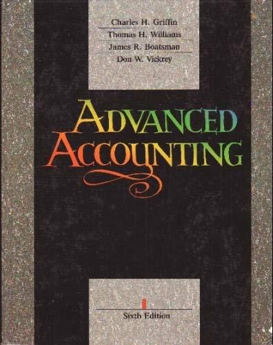 Advanced Accounting: Thomas H. Williams;