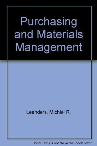9780256069846: Purchasing and Materials Management