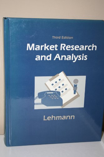 9780256070385: Market Research and Analysis