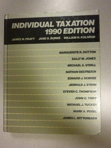 9780256074536: Individual Taxation, 1990