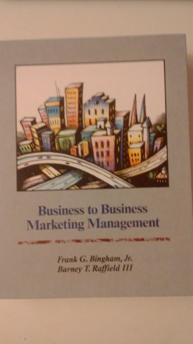 9780256079753: Business to Business Marketing Management