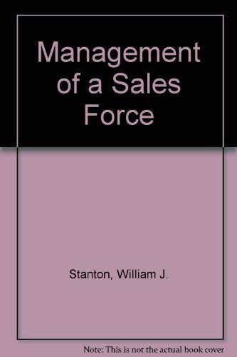 9780256079968: Management of a Sales Force