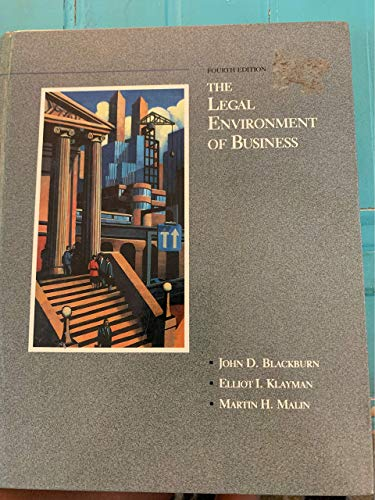 9780256080230: The Legal Environment of Business