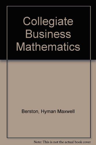 9780256080285: Collegiate Business Mathematics