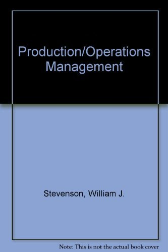 9780256080292: Production/Operations Management (The Irwin series in quantitative analysis for business)