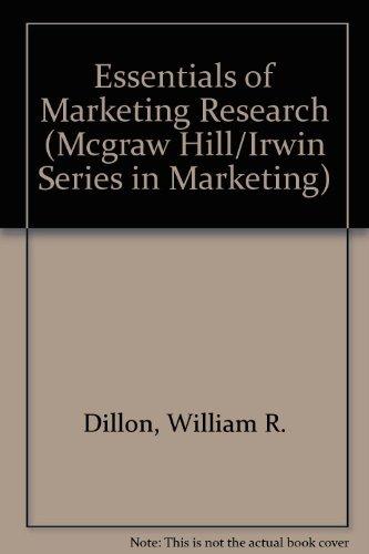 9780256081121: Essentials of Marketing Research (MCGRAW HILL/IRWIN SERIES IN MARKETING)