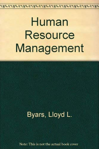 Human Resource Management: Lloyd L. Byars,