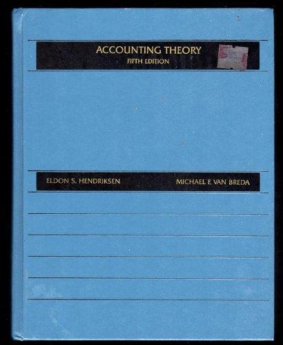 Accounting Theory: Eldon S. Hendriksen,