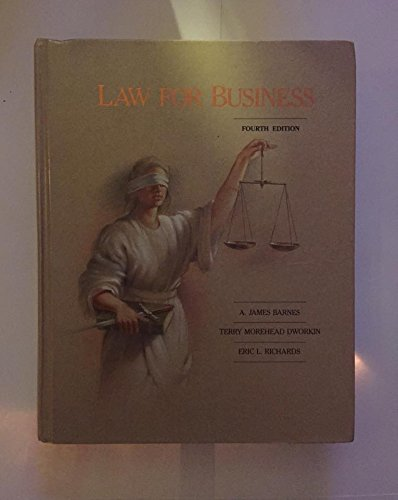 9780256082180: Law for Business