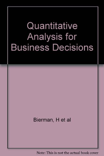 9780256082678: Quantitative Analysis for Business Decisions