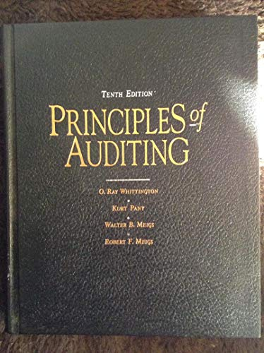 9780256084085: Principles of Auditing