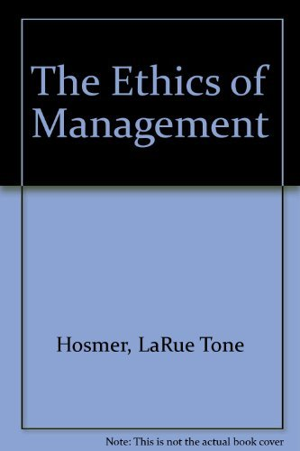 9780256084894: The Ethics of Management