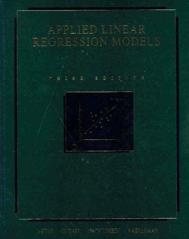 9780256086010: Applied Linear Regression Models