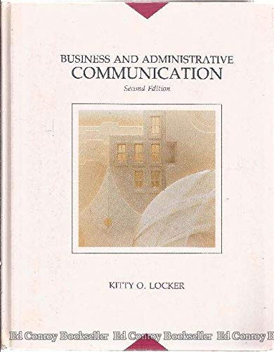 9780256087475: Business and Administrative Communication