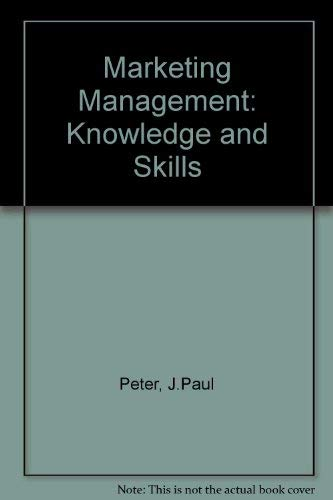 9780256092257: Marketing Management: Knowledge and Skills