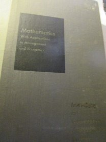 9780256092370: Mathematics With Applications in Management and Economics