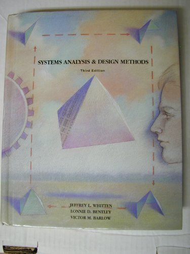 9780256093605: Systems Analysis and Design Methods