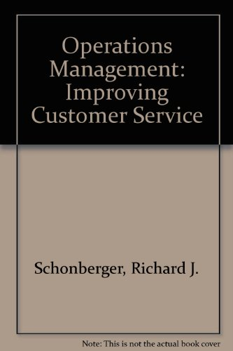 9780256098815: Operations Management: Improving Customer Service
