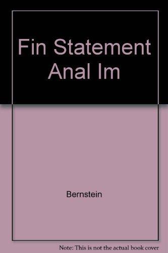 Fin Statement Anal IM: Bernstein
