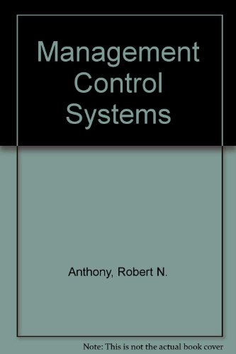 9780256104721: Management Control Systems