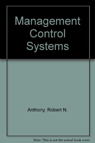 Management Control Systems: John Dearden; Robert
