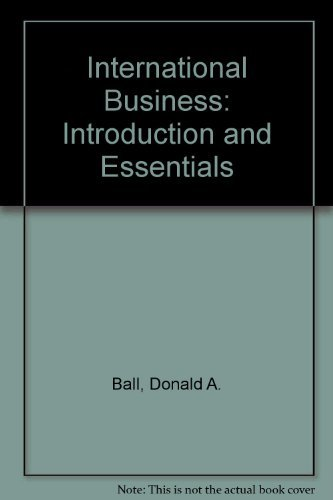 9780256106527: International Business: Introduction and Essentials