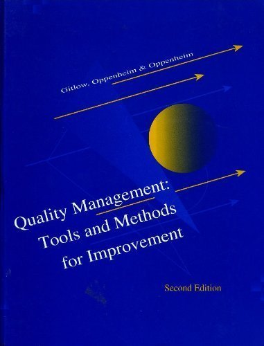 9780256106657: Quality Management: Tools and Method for Improvement (Irwin Series in Marketing)