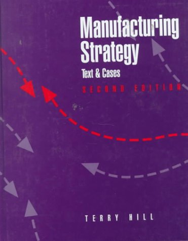 9780256106664: Manufacturing Strategy: Text and Cases