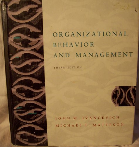 9780256107258: Organizational Behavior and Management