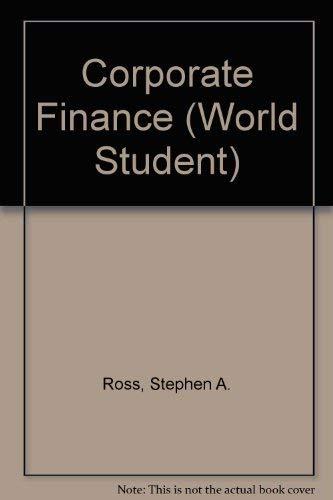 9780256108279: Corporate Finance (World Student)
