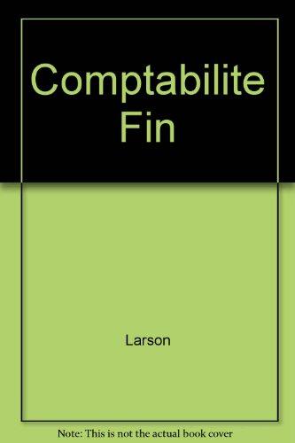 Comptabilite Fin: Larson