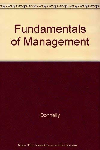 9780256112702: Fundamentals of Management