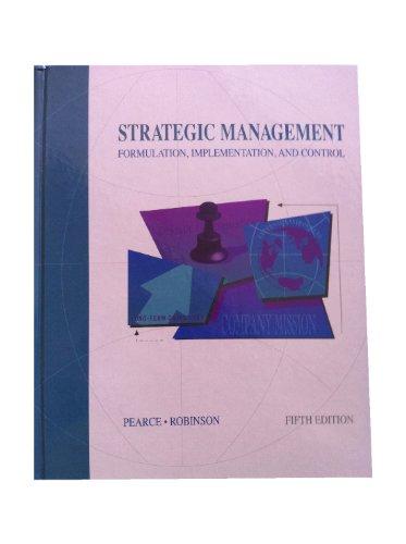 9780256113624: Strategic Management: Formulation, Implementation, and Control