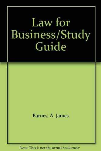 9780256115956: Law for Business/Study Guide