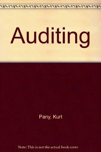 9780256116373: Auditing