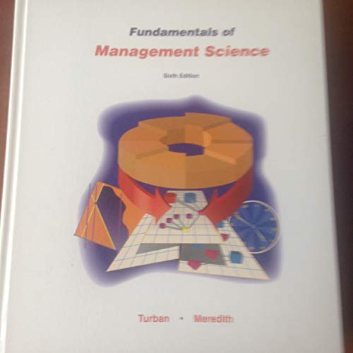 9780256117240: Fundamentals of Management Science (Irwin Series in Quantitative Methods and Management Science)