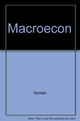 Macroeconomics: David N. Hyman