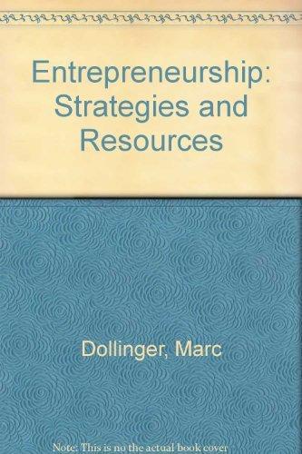 9780256119800: Entrepreneurship: Strategies and Resources