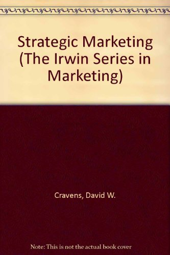 9780256122121: Strategic Marketing (The Irwin Series in Marketing)